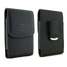 Vertical Leather Swivel Belt Clip Case Magnetic Closure for Microsoft Cell Phone