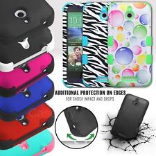FOR HTC DESIRE 510 TUFF DUAL LAYER SHOCKPROOF HYBRID IMPACT HARD CASE COVER