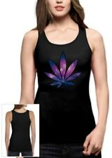 marijuana Leaf Party Rave Weed Plant Cosmic Style dope  Women Tank Top small / /