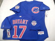 5210 Majestic Chicago Cubs KRIS BRYANT Authentic GAME Alternate BLUE Jersey 48