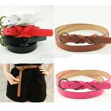 Women Vintage Slim PU Leather Waist Belt Lady Knot Pin Buckle Waistband 6 Colors