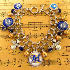 NEW! MLB Milwaukee Brewers Baseball Teams Handmade Charms Bracelet Fans Gift