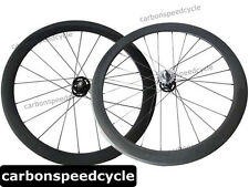 2015 Hot Sale Carbon fixed gear Bicycle Wheels 50mm Clincher/Tubular track Hubs