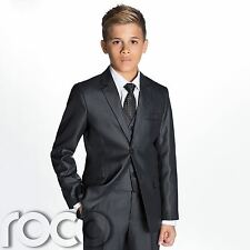 Charcoal Grey Prom Suit, Page Boy Wedding Suits, Boys Grey Suit , 1 - 14 years