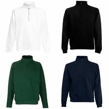 (Free PnP) Fruit Of The Loom Mens Zip Neck Sweatshirt Top