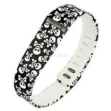 Skull 2 Size Replacement Wrist Band Clasp for Fitbit Flex Bracelet No Tracker