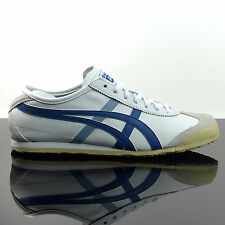 ASICS ONITSUKA TIGER MEXICO 66 DL408-0150 SCHUHE WEISS SNEAKER NAVY