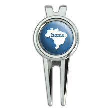 Brazil Home Country Golf Divot Repair Tool and Ball Marker