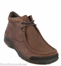MENS HUSH PUPPIES RELEVANCE BROWN LEATHER EXTRA WIDE WORK FORMAL SHOES BOOTS