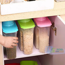 2.5L Plastic Dry Dried Food Cereals Pasta Nuts Storage Dispenser Container Box