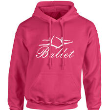 Ballet Dancer Hoodie with two figures ballet shoes tutu leotard tights slippers