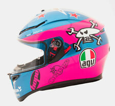 AGV K3 SV Guy Martin Isle Of Man TT Replica Motorcycle Helmet - Pink/Blue