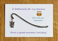 Teacher gift *Bookmark* Nursery teacher, Teaching Assistant Can be personalised