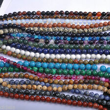 Lots Natural Gemstone Round Spacer Loose Beads 4,6,8,10,12MM DIY Jewelry Making