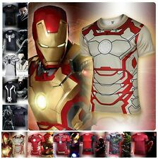 Superhero T Shirt Men Tee Shirts Chemise Homme Marvel Avengers Clothing S-4XL