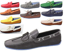 NEW MENS  FAUX LEATHER  LACE UP DECK BOAT CASUAL SHOES UK SIZE 7 8 9 10 11