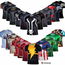 Hombre Marvel Superhero T-shirt Tee Captain America Thor Camisetas Shirt Tops