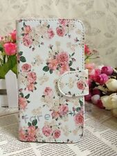 Sweet Rose Love Fresh Floral Flower Flip Pouch Case Cover for NOKIA/Blackberry