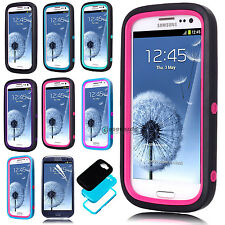 New TPU Shockproof Case Cover Skin for SAMSUNG GALAXY S3 S III I9300 +Free Film