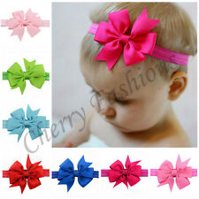 Baby Girls Hairband Bow Soft Head Elastic Band Headband Flower Hair Accessories