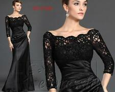 eDressit2015 Hot Sale Long Black Lace Sleeves Evening Dress Prom Ball GownUK6-20
