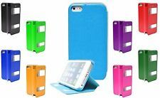 S View Side Open Flip Holder PU Leather Stand Case Cover For Apple iPhone 4S 4