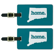 Connecticut CT Home State Luggage Suitcase ID Tags Set of 2