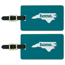 North Carolina NC Home State Luggage Suitcase ID Tags Set of 2