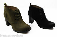LADIES WOMENS HUSH PUPPIES AMBERILL SUEDE LEATHER ANKLE BOOTS HEEL SHOES UK SIZE