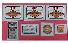 Briggs and Stratton WATER TRANSFER DECALS - Sets or Separate - Mini Bike Go Kart