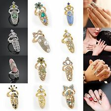 NEW 3D Crystal Nail Art Glitters Sticker FingerTip Rings Manicure DIY Decoration