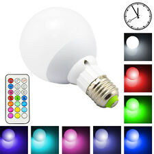 New Dimmable 10W RGBW Color Changing E27 Led Globe Light Bulb Timing Set +Remote