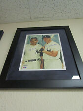 YOGI BERRA & MICKEY MANTLE DUAL SIGNED/FRAMED 8X10 PSA LOA K77125