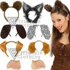 Childrens Adults Animal Ears Headbands Fluffy Floppy Stick Out Furry Costume
