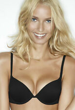 BRAND NEW Wonderbra Lightweight Gel Push Up Plunge Bra 7925 Black VARIOUS SIZES