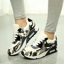 Fashion Womens Mesh Camouflage Sports Shoes Lace Up Breathable Running Sneakers