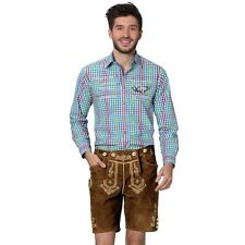 Original German - Bavarian leather shorts Beppo h-beam brown - Lederhosen