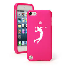 For Apple iPod Touch 4th 5th 6th Rubber Hard Case Cover Female Volleyball Player