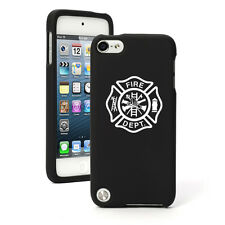 For Apple iPod Touch 4th 5th 6th Rubber Hard Case Cover Fire Dept Maltese Cross
