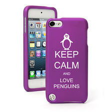 For Apple iPod Touch 4th 5th 6th Rubber Hard Case Cover Keep Calm Love Penguins