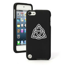 For Apple iPod Touch 4th 5th 6th Rubber Hard Case Cover Triquetra Celtic Knot