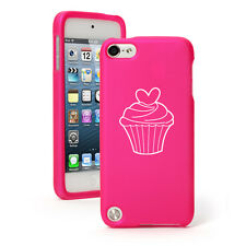 For Apple iPod Touch 4th 5th 6th Rubber Hard Case Cover Heart Cupcake
