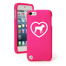 For Apple iPod Touch 4th 5th 6th Rubber Hard Case Cover Boston Terrier Heart