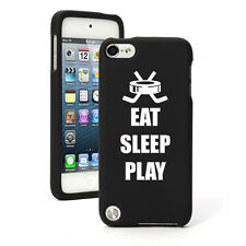 For Apple iPod Touch 4th 5th 6th Rubber Hard Case Cover Eat Sleep Hockey