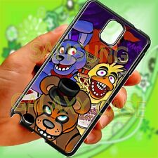 Five Nights at Freddy's black Samsung galaxy note 2 3 4 case cover