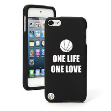 For Apple iPod Touch 4th 5th 6th Rubber Hard Case Cover One Life Basketball
