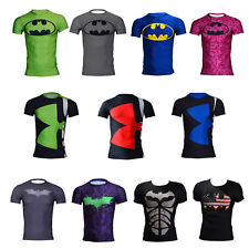 Mens Summer Quick Dry Compression Cycling Jersey Tee Shirt Cool Muscle T-shirt