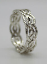 925 STERLING SILVER CELTIC KNOT BAND,WEDDING RING N,P,R & T, GENTS LADIES,THUMB