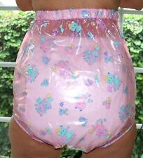PVC Incontinence Diaper Rubber Underwear pink transparent. kid