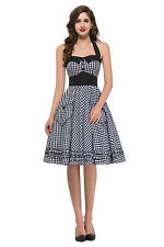 Rockabilly Vintage style Swing 1950's JIVE pinup Housewife Prom Party Dress PLUS